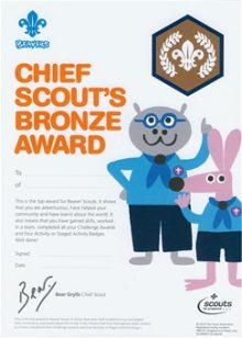 Chief Scout Award Certificate