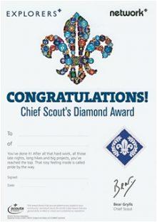 Diamond Chief Scout Award Certificates