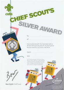 Silver Chief Scout Award Certificates