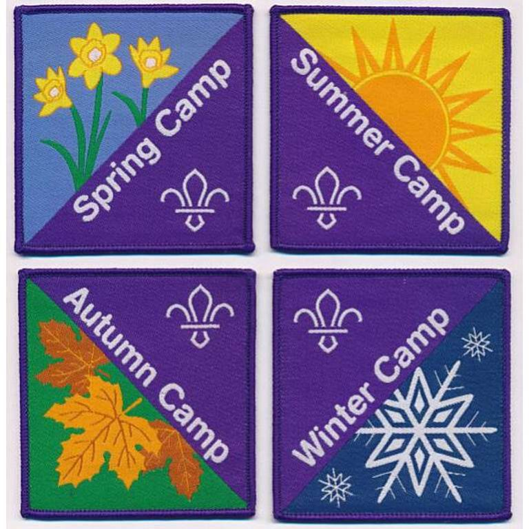 4 seasons camp badge set