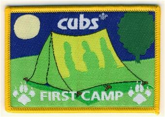 camp blanket badge cubs first camp