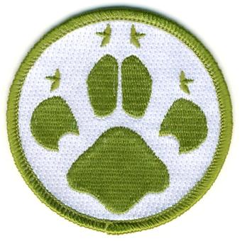 camp blanket badge cubs paw