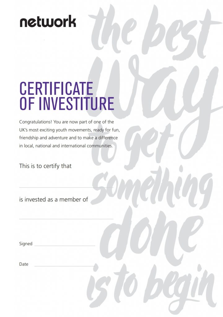 network investiture certificate