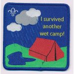 i survived another wet camp badge