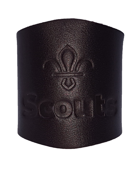 Leather Embossed Scout Woggle A