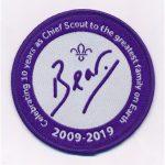 bear 10th anniversary badge