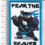 fear the beaver badge